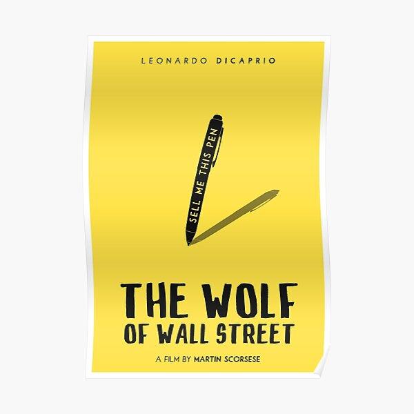 El póster de la película Wolf of Wall Street Póster