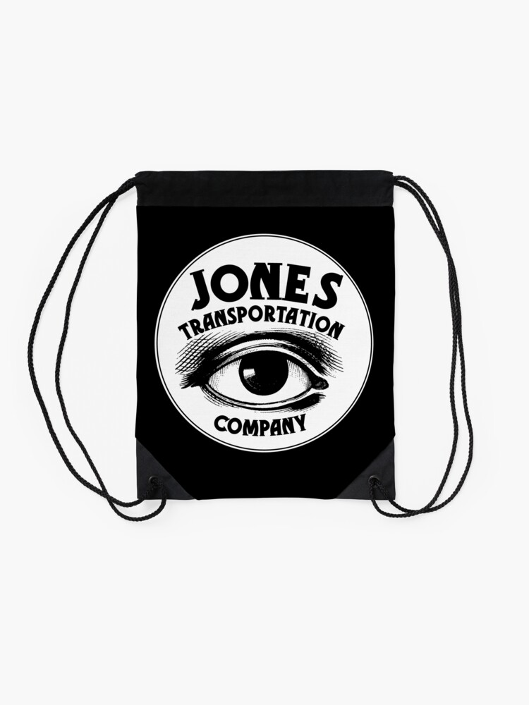 "Alternate view of Jones Transportation Co. Logo from ""Persephone's Torch"" Drawstring Bag"