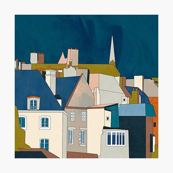 Frankreich Bretagne Saint Malo in blau Fotodruck