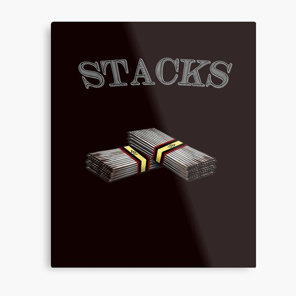 Stacks T shirt Metal Print