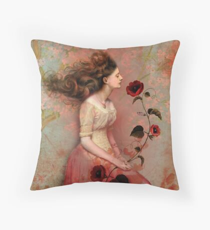 Blooming scent Throw Pillow