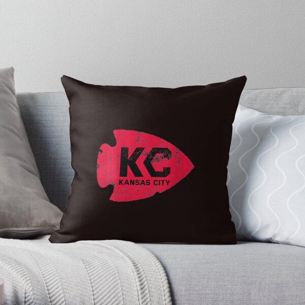 Womens Kansas City Arrowhead Kc Distressed Vintage V neck T shirt Throw Pillow