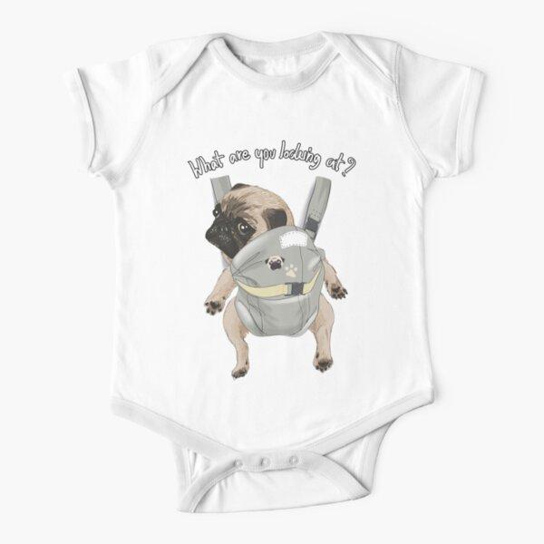 Baby pug Short Sleeve Baby One-Piece