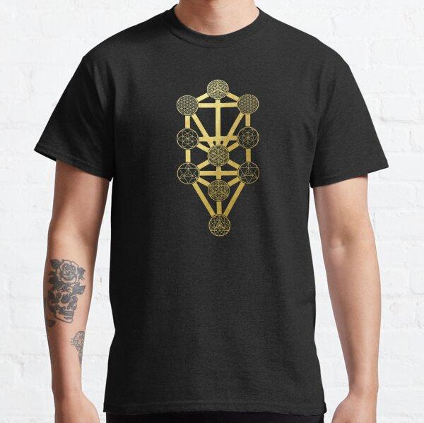 The Tree of life kabbalah gold sacred geometry judaism protection symbol Classic T-Shirt