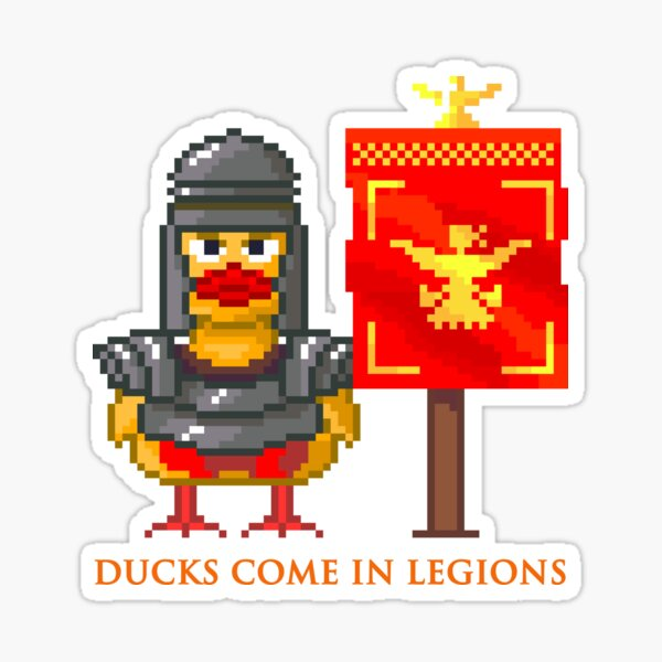 Ducks come in legions Sticker