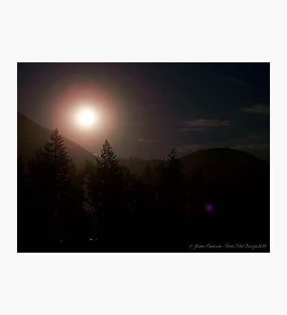 Moonrise over Glacier Park Photographic Print