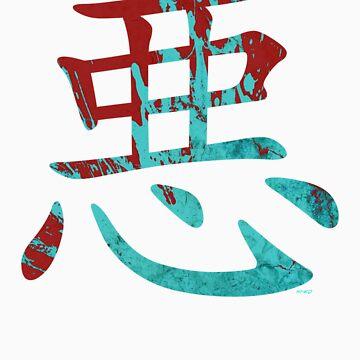 Aku Red & Blue Kanji by nikkolen