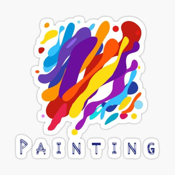 Painting design by Intus international Sticker