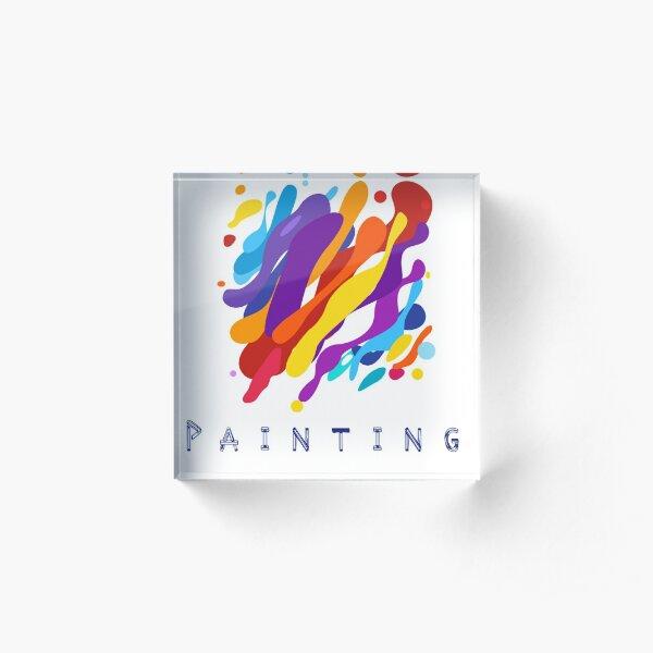 Painting design by Intus international Acrylic Block
