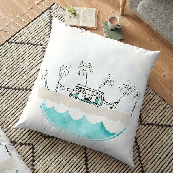 Easy Living, Surf Vibes Floor Pillow