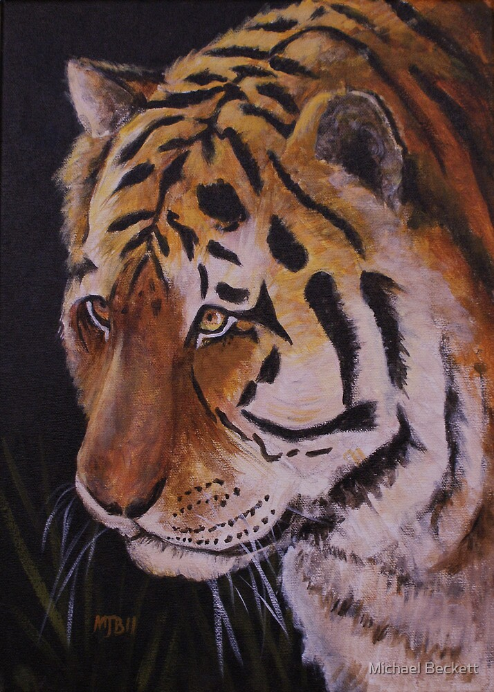 Tiger Portrait by Michael Beckett