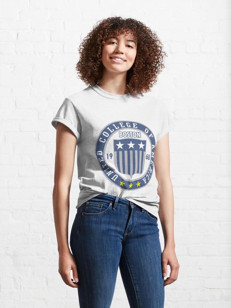 Alternate view of antique university in Boston Classic T-Shirt