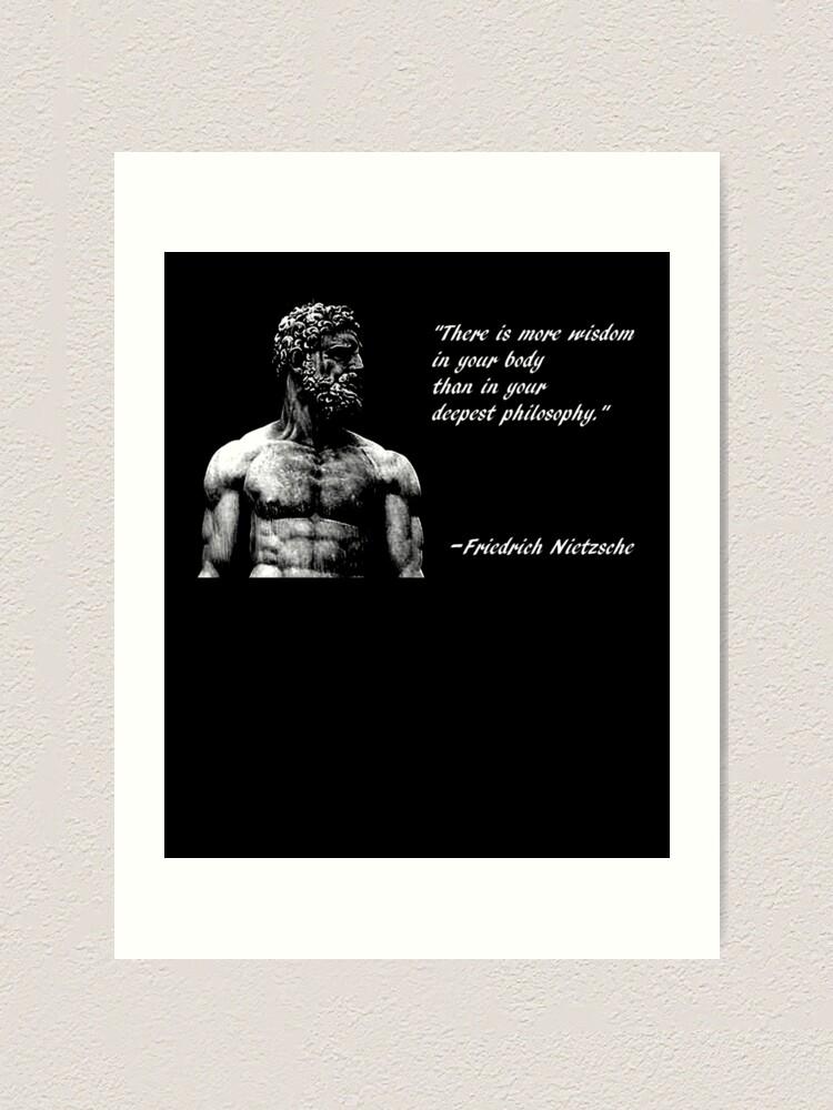 Photo Art Print Gift Motivation The Wisdom of Friedrich Nietzsche Poster