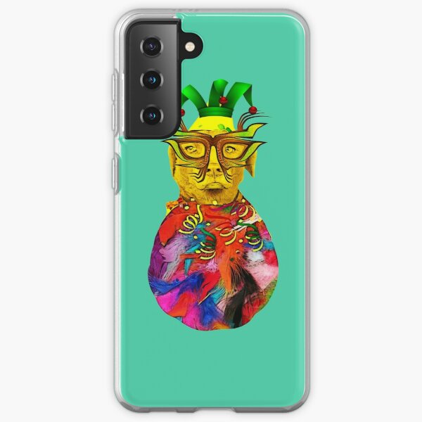 A lovely clown dog invited you to the carnival Samsung Galaxy Soft Case