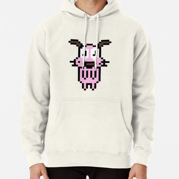 Courage The Pixelated Dog Pullover Hoodie