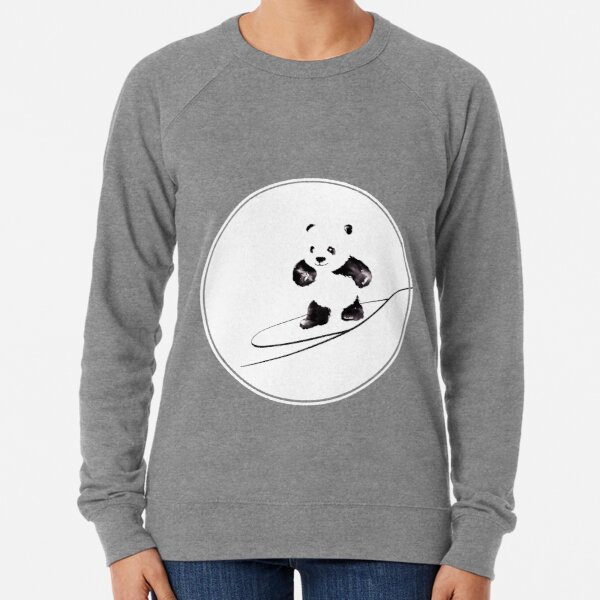 Surfing Panda Lightweight Sweatshirt