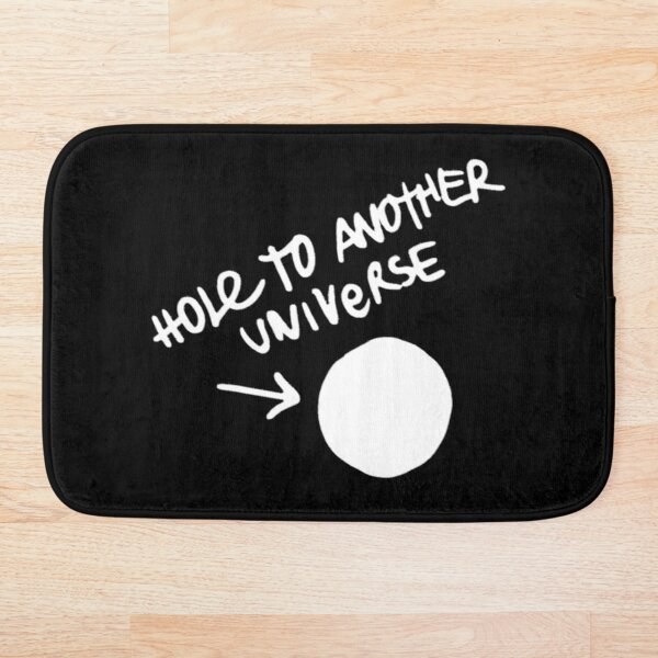 Hole to another dimension (white)  Bath Mat