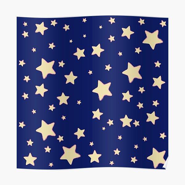 Stars by marthalaufej tinta-design.de Poster