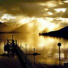 Lake Te Anau sunset. South Island, New Zealand. (3) by Ralph de Zilva