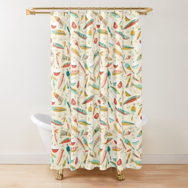 Fishing Lures Shower Curtain