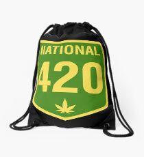 Australia 420 Day National Highway 1 Green Yellow Drawstring Bag