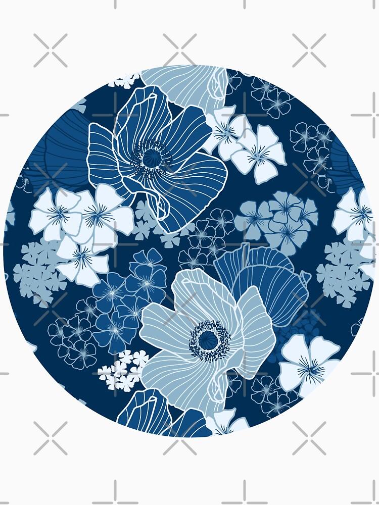 Classic Blue Poppies by nadyanadya