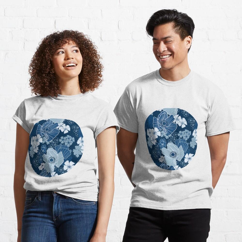 Classic Blue Poppies Classic T-Shirt