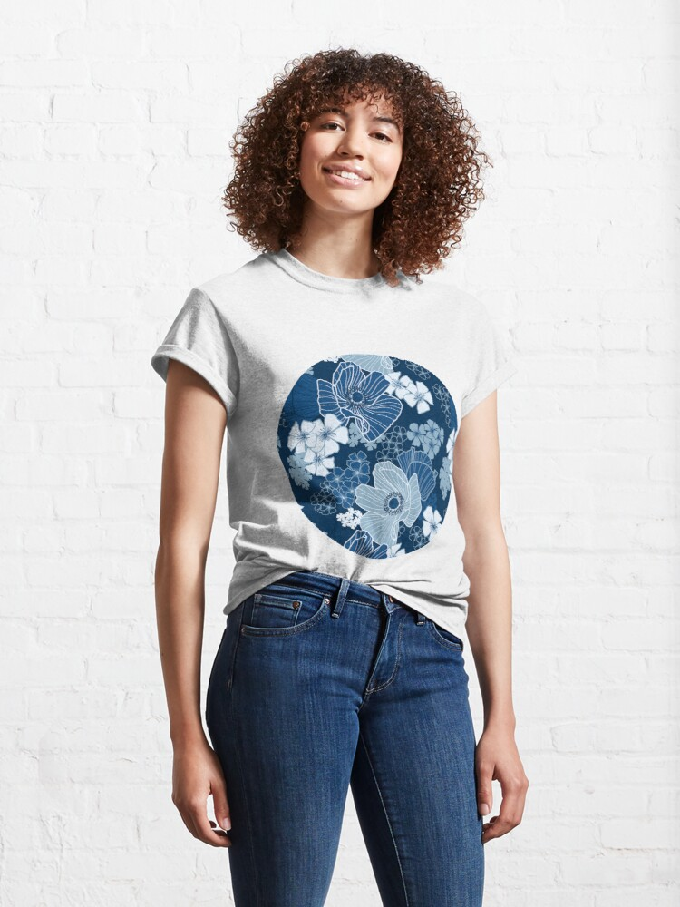 Alternate view of Classic Blue Poppies Classic T-Shirt