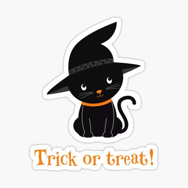 trick or treat cat Sticker