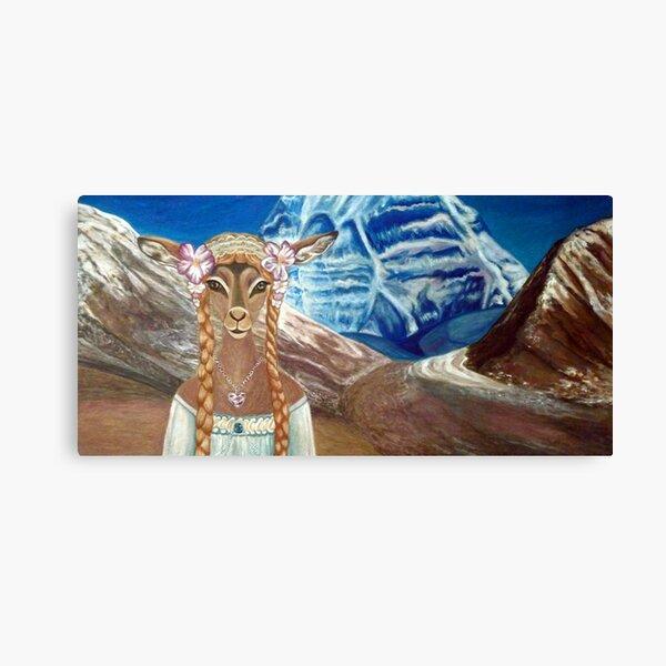 Lady Impala in Tibet's Mount Kailash Canvas Print
