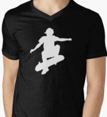 Skater Large - White Men's V-Neck T-Shirt
