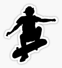 Skater Large - Black Sticker
