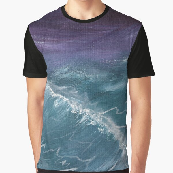 Teal Purple Graphic T-Shirt