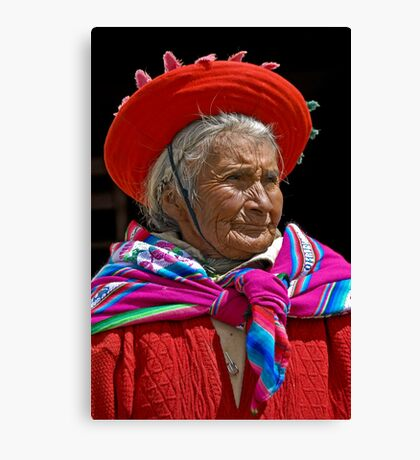 Peruvian grandmother Canvas Print