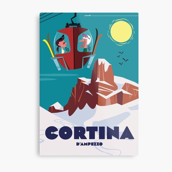 Cortina D'Ampezzo poster Metal Print
