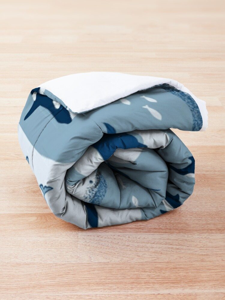 Alternate view of Whale Songs in Blue Waves Comforter