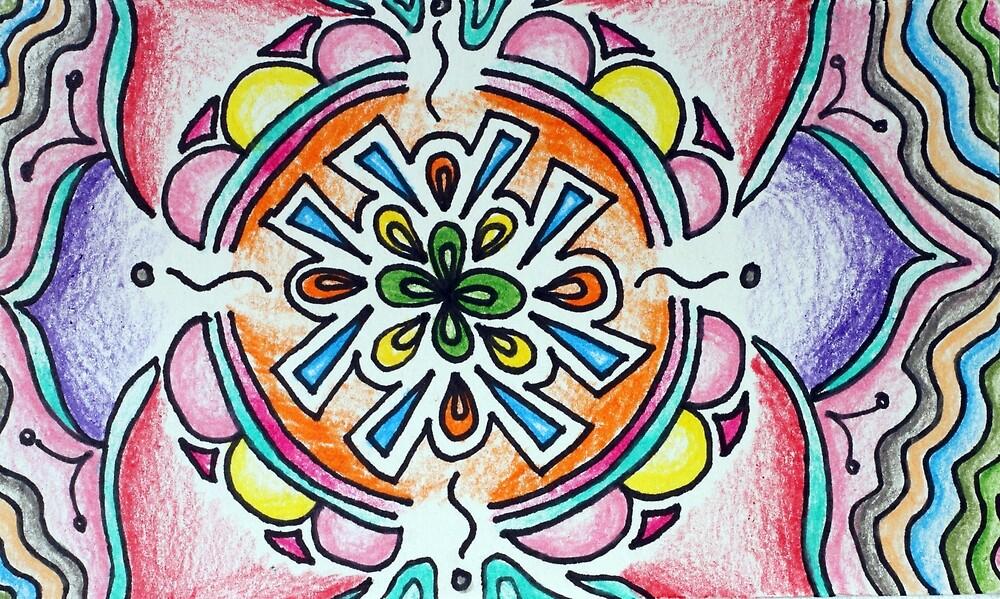 Bubble Mandala by hillsandthread