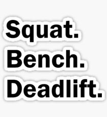 Squat Bench Deadlift Sticker