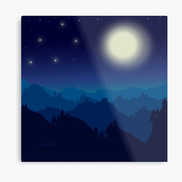 Nightfall by marthalaufej tinta-design.de Metallbild