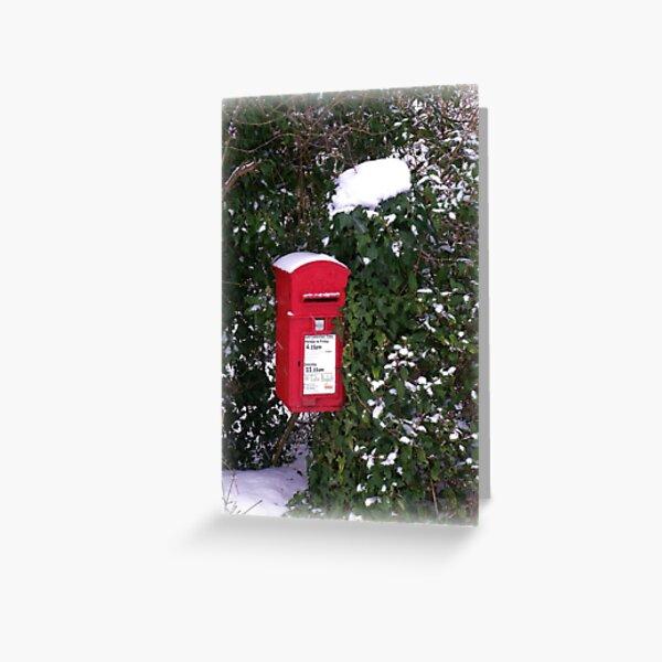 Winter Postbox Greeting Card