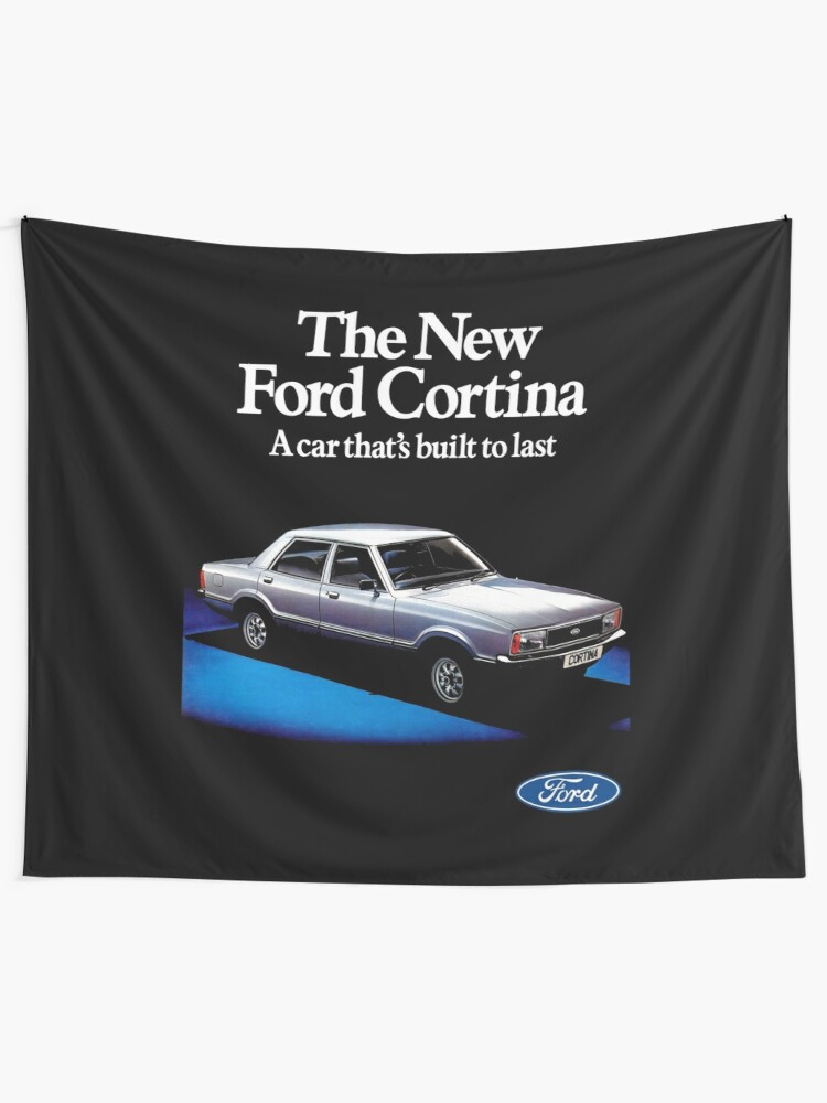 NEW COTTON BLACK SHORT SLEEVED TSHIRT Ford Cortina Mark III