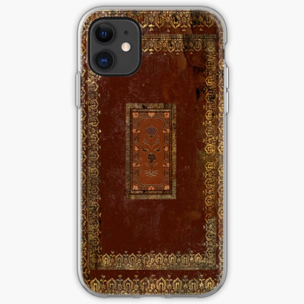 Vintage Victorian Old Leather Look Book Cover iPhone Soft Case