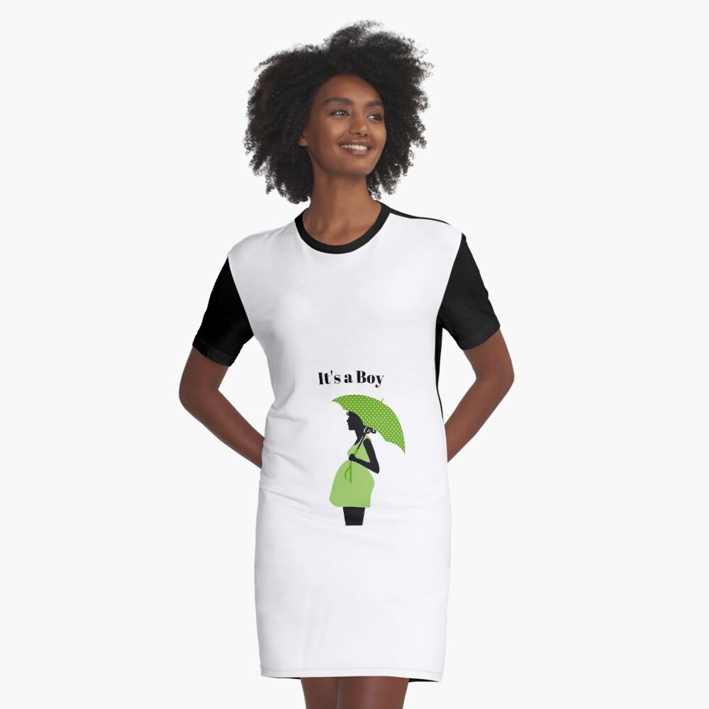 Maternity T Shirts It S A Boy Graphic T Shirt Dress By Gmason972 Redbubble