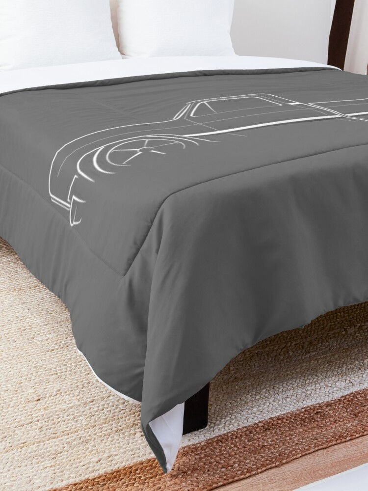 Alternate view of 1987 C-10 Silverado - profile stencil, white Comforter