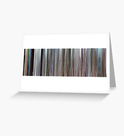 Moviebarcode: Pierrot le fou (1965) Greeting Card