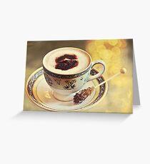 Cappuccino con bokeh Greeting Card
