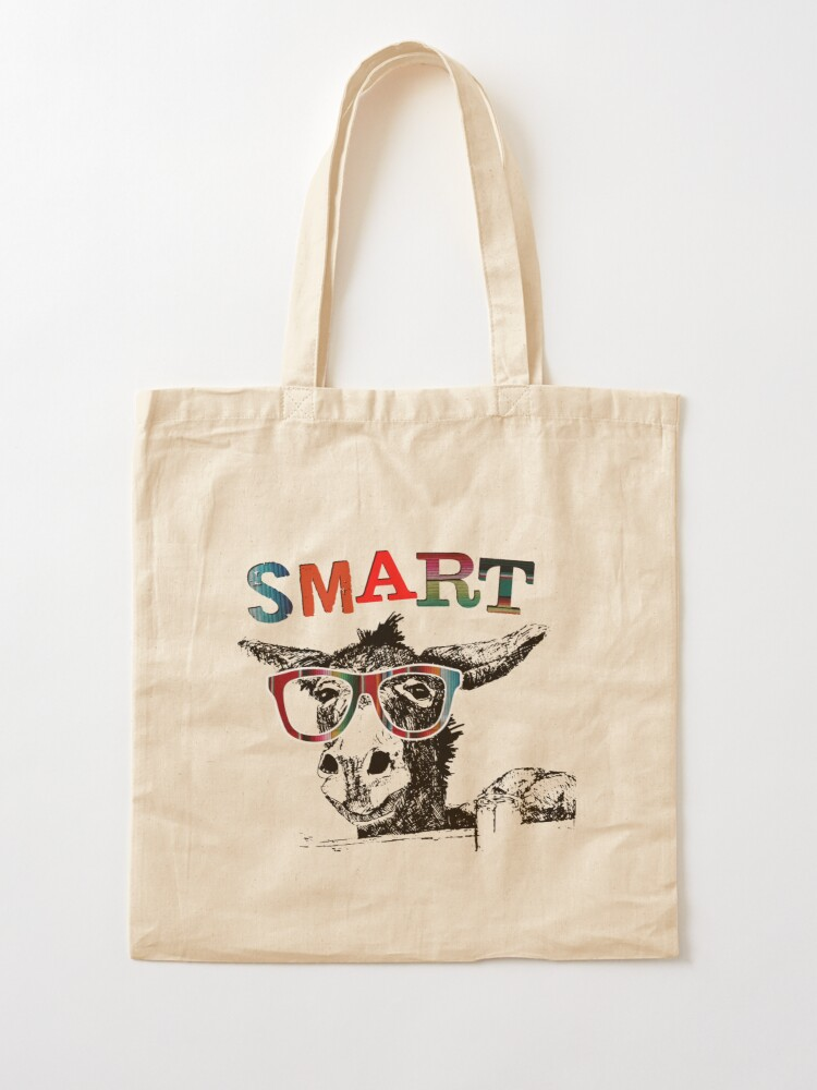 Funny Tote Bag Funny Zippered Canvas Tote Bag Sassy Classy and a little Smart Assy