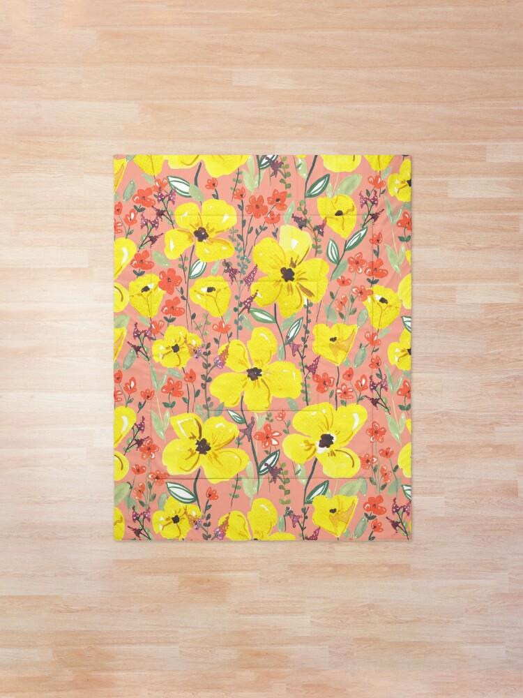 Alternative Ansicht von Gelbe Wiesen Blumen Tagesdecke
