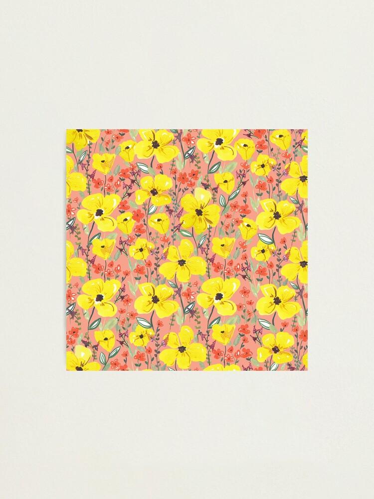 Alternative Ansicht von Gelbe Wiesen Blumen Fotodruck