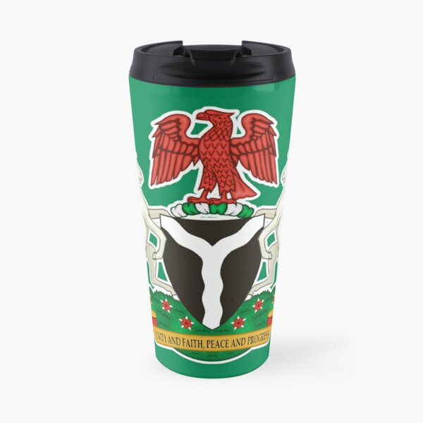 Nigeria Flag Stickers, Gifts and Products Travel Mug